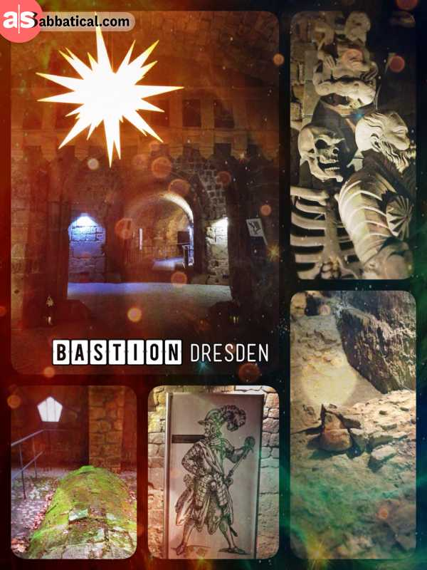 Dresden Fortress - the gate that is buried underneath a terrace