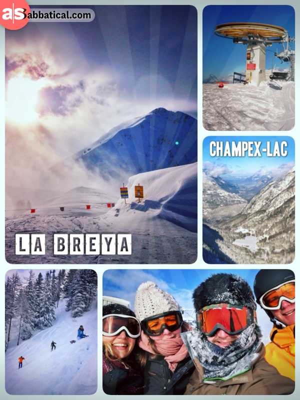 La Breya - riding the slopes with a lot of powder (new snow)