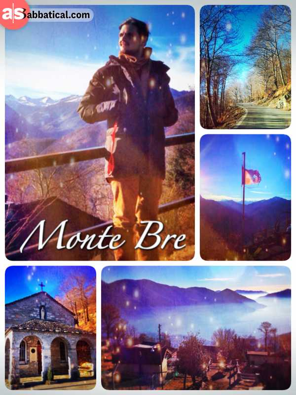 Monte Brè - Enjoying the magnificent view from the mountain top