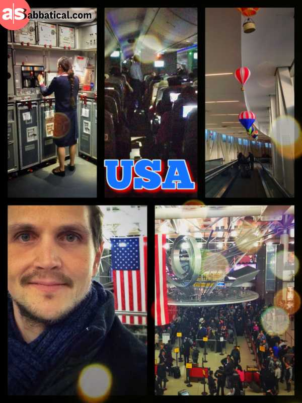 United States of America - It was quite a troublesome start and I had to run to the gate, but now I've arrived in the land of dreams