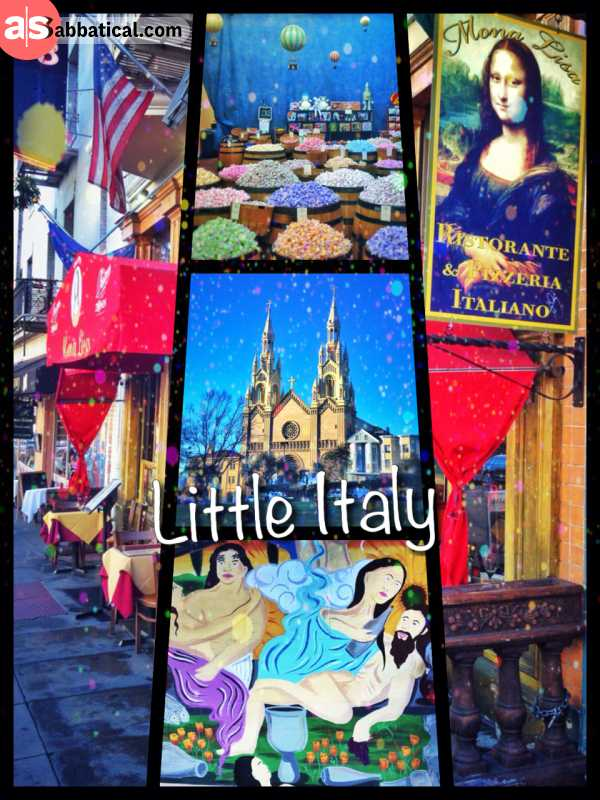 Little Italy - an extravagant blend of the relaxed Mediterranean lifestyle in the heart of San Francisco