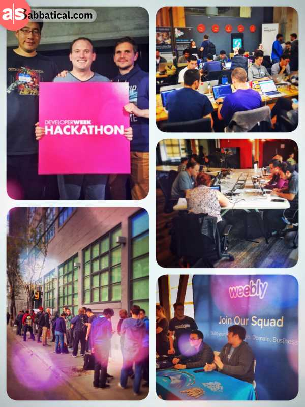 Developer Week Hackathon - winning a price at my very first hackathon - competing agains 100 teams