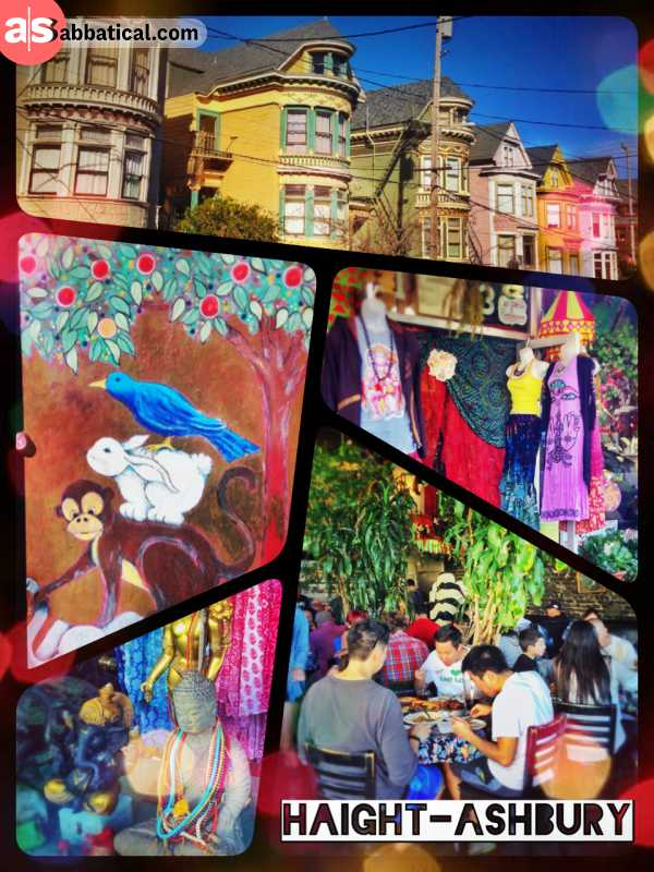 Haight-Ashbury - happy window shopping in the commercialised hippie district of San Francisco