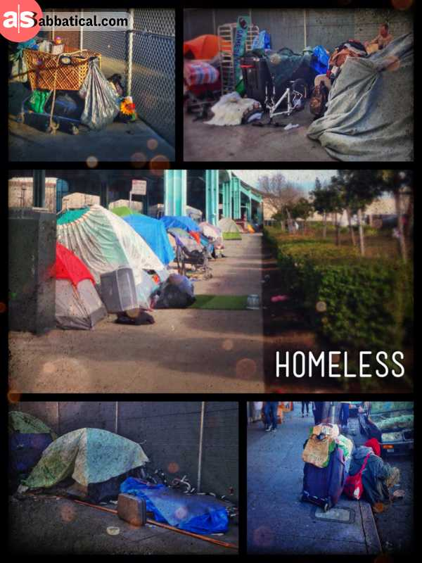 Living under the Bridge - the number of homeless in this city is alarming but mostly all of them are harmless