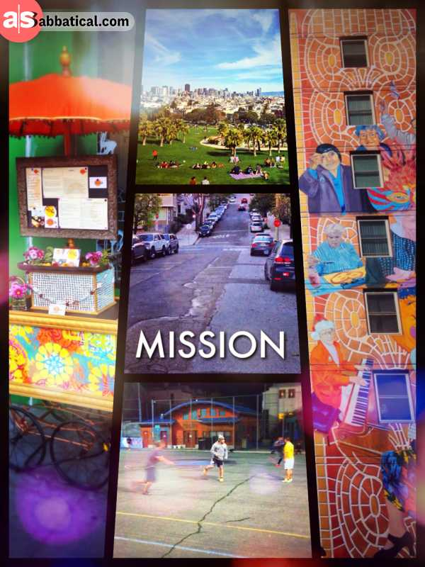 Mission - living in the best District of San Francisco and enjoying delicious food and coffee