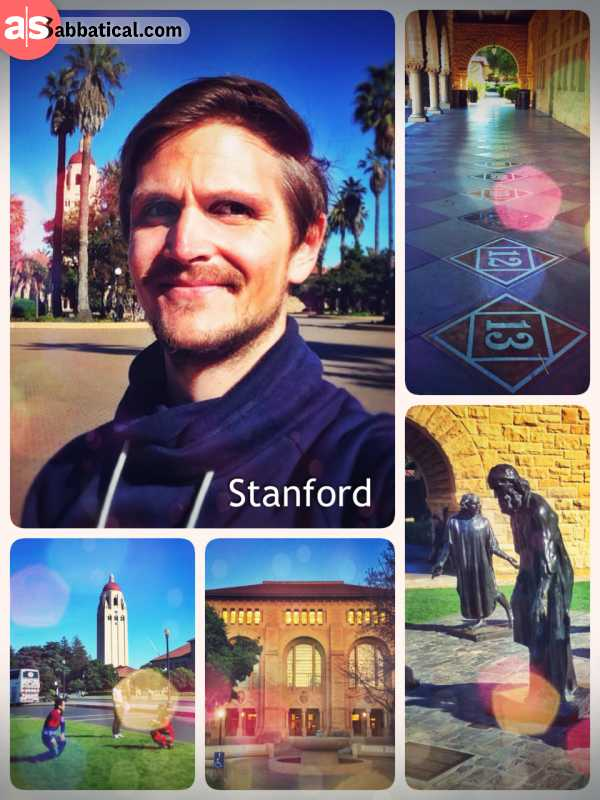 Stanford University - reluctantly strolling through the notorious campus of the prestigious campus