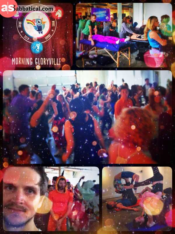 Morning Gloryville - hitting the dance floor on a Wednesday morning is a great start into the day!