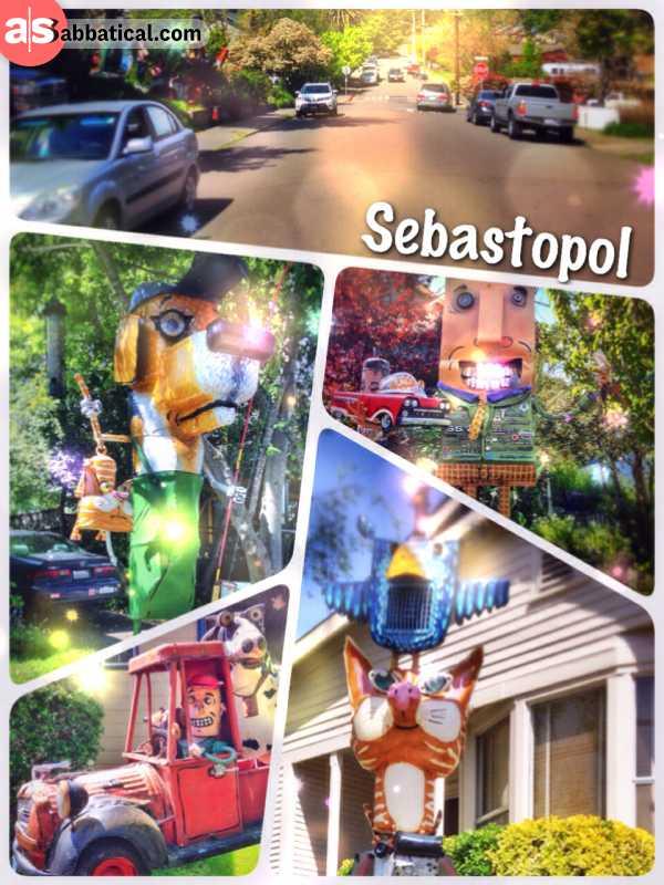 Sebastopol - where spiritual and artsy Americans celebrate pinot noir and crafty artworks