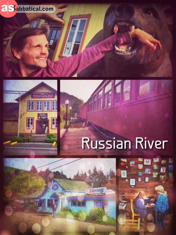 Russian River - crossing an important river while driving from the ocean to the forest