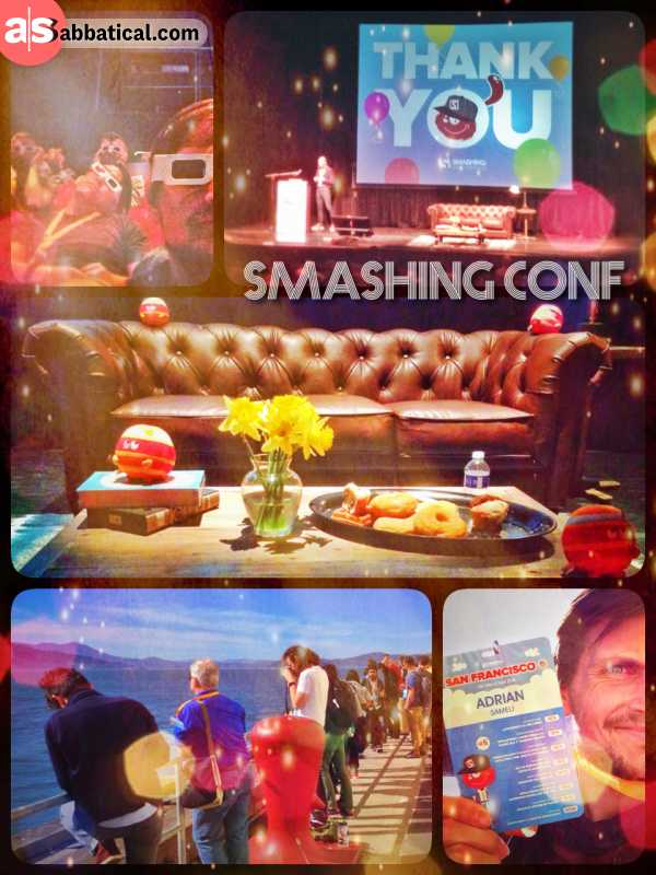 Smashing Conference - updating my web design and development knowledge and network