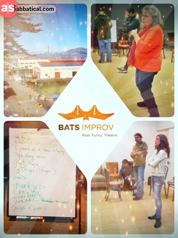 BATS Improv Theatre - learning the first steps of improv theatre and then enjoying a fun show