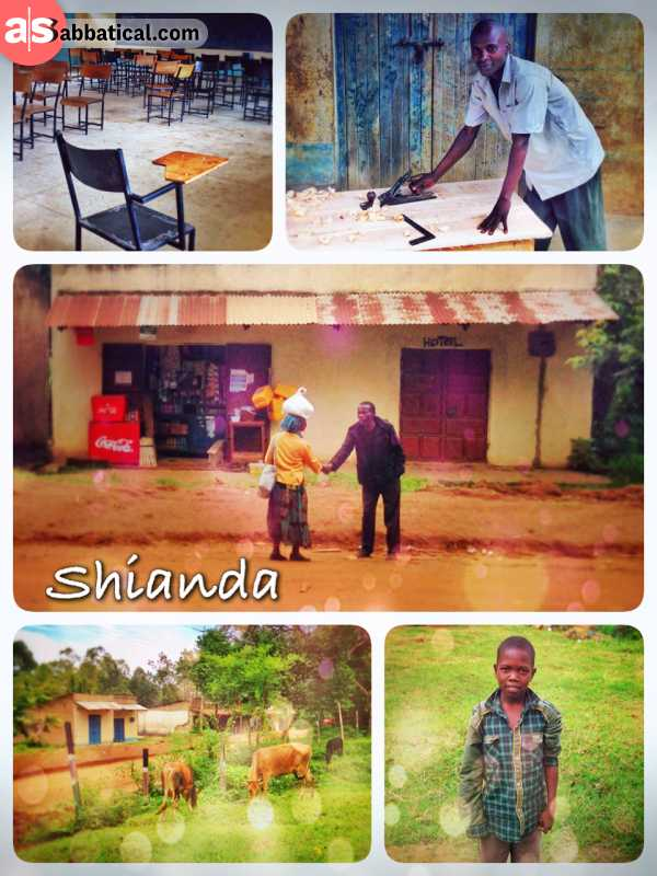 Shianda - meeting the first low income people on my journey in a small rural village