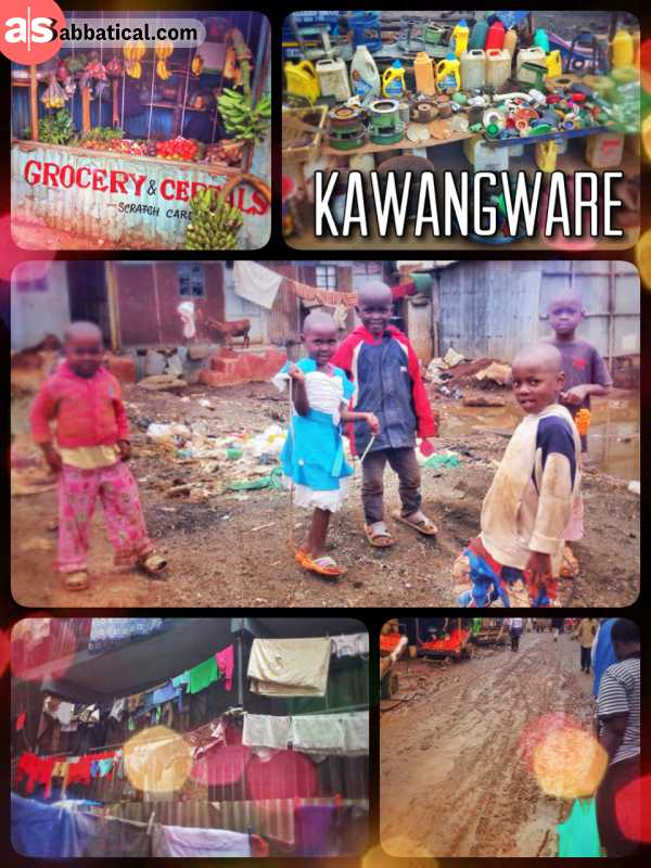Kawangware - visiting a friend in the slum for singing and dancing in an African church