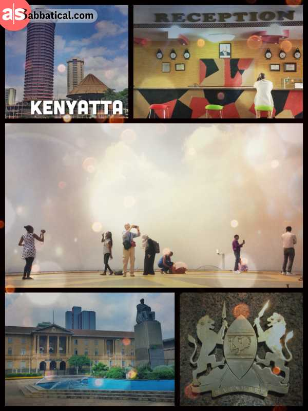 Kenyatta International Convention Centre - climbing the Kenyatta tower and enjoying the view over green Nairobi