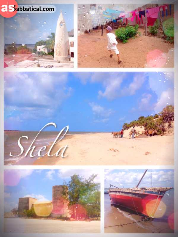 Shela Town - enjoying some quiet time at a beautiful beach, deserted thanks to Somalia