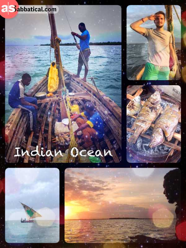 Indian Ocean - sailing on the third largest ocean with fisherman who can't find North