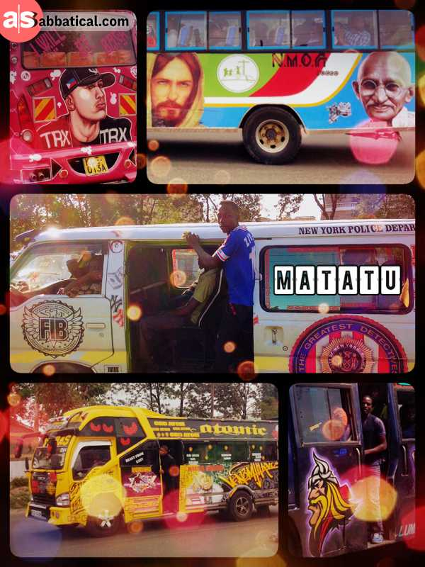 Matatu - public transportation emulated by private saving groups and entrepreneurs
