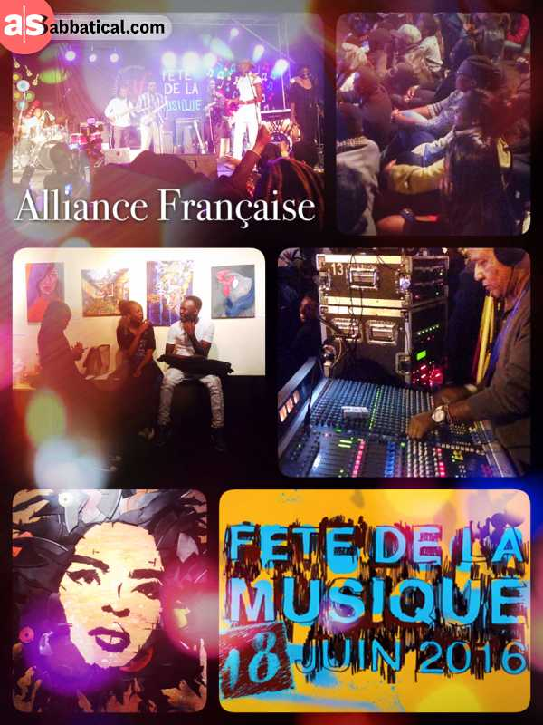Alliance Française - celebrating World Music Day in Nairobi at the French learning institute