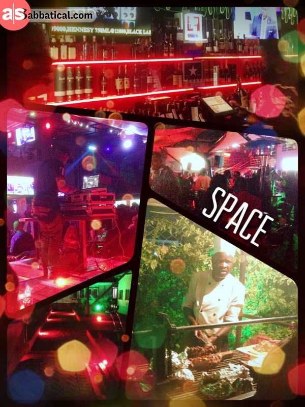 Space Lounge Bar & Grill - listening to bumping African beats under the starshine of a clear night in Nairobi