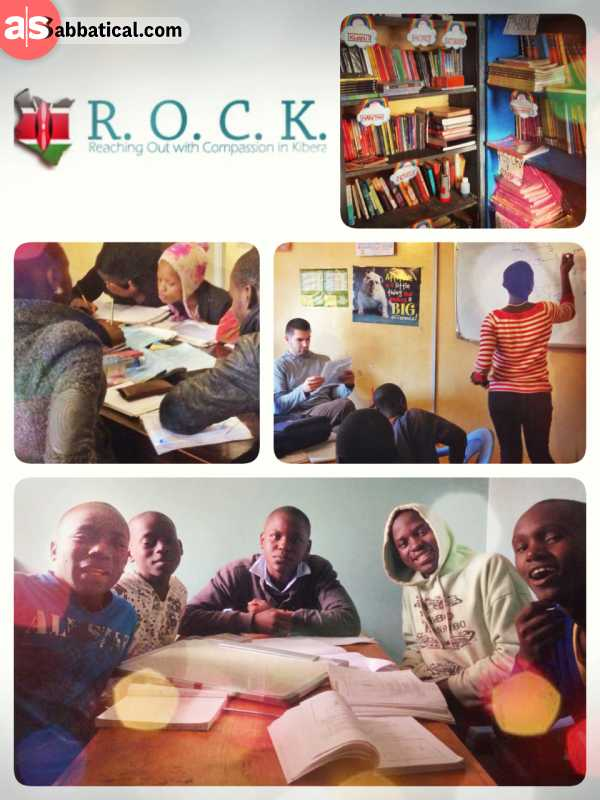 ROCK: Reaching Out with Compassion in Kibera - helping a bunch of witty teenager to focus and learn on a Sunday afternoon