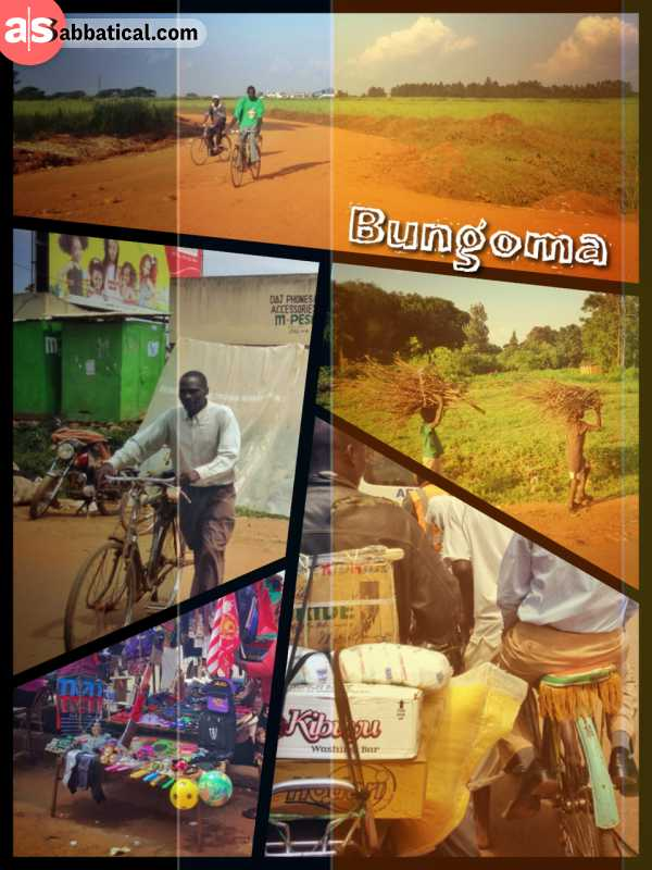 Bungoma - visiting a rural tow to speak to solar sales agents and explore the city on a bike