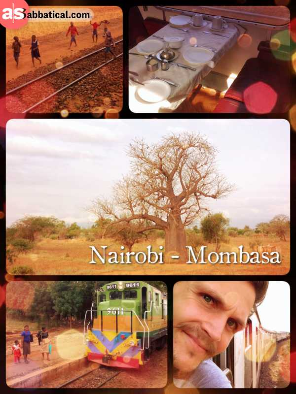 Rift Valley Railway - slowly, but steadily rolling from Nairobi to Mombasa in a bumpy and old train