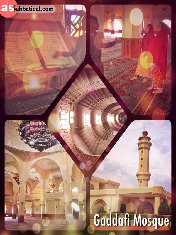 Gaddafi Mosque - private tour through the second largest Mosque in Africa plus the Minaret
