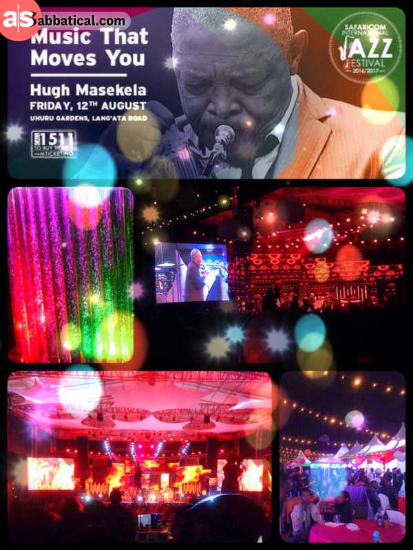 Jazz Festival - listening to the tunes of Jazz legend Hugh Masekela under the stars of Nairobi