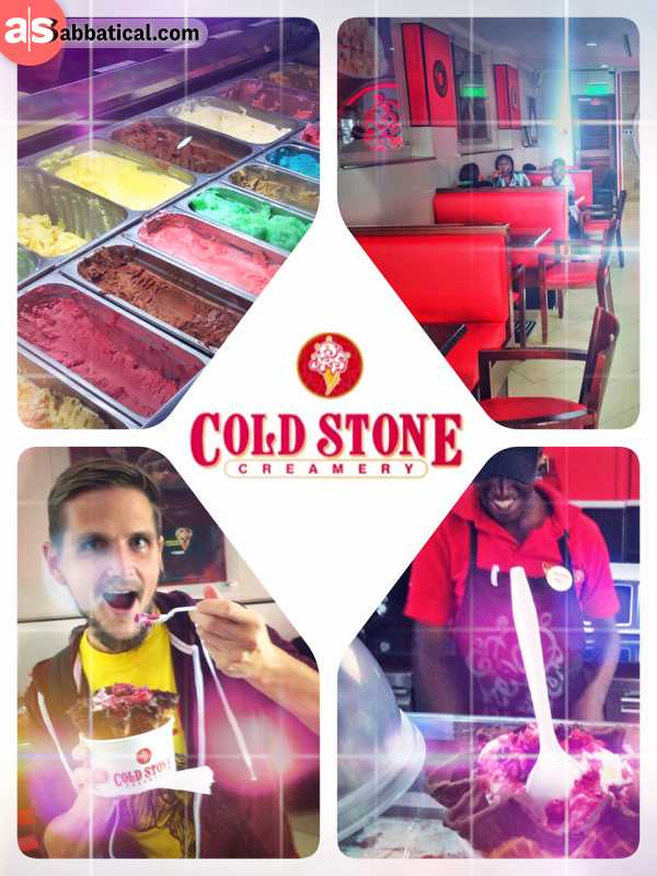 Cold Stone - accidentally stumbling onto the best ice cream on the entire African continent