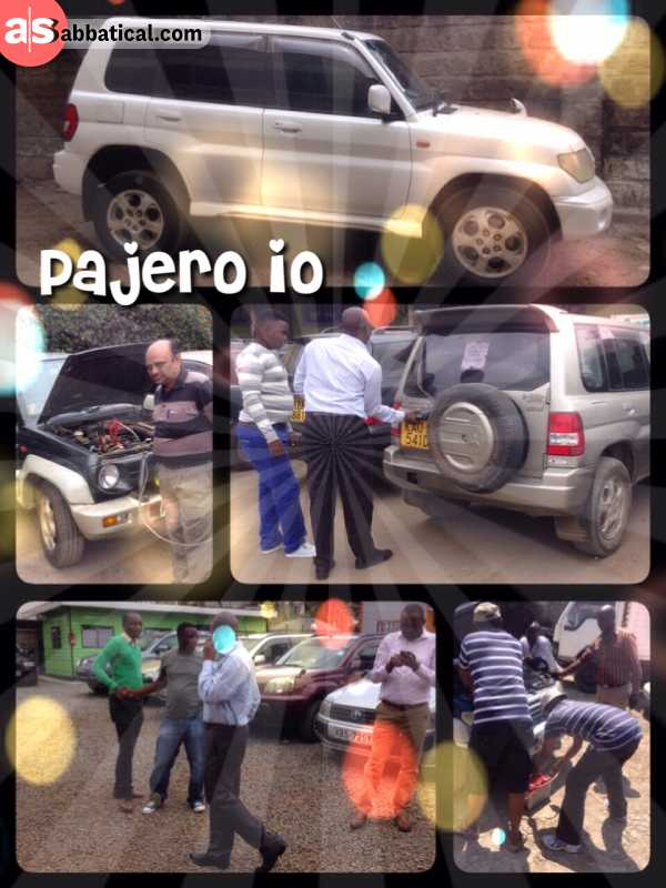 Mitsubishi Pajero iO - buying my very own car in Nairobi - just to drive to Cape Town and back