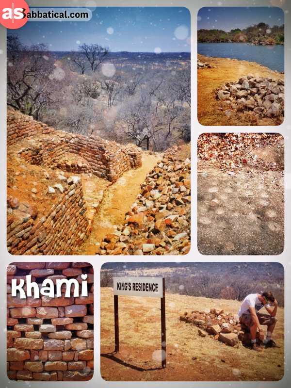 Khami Ruins - sweating a lot while exploring the stone ruins of an ancient zimbabwe city