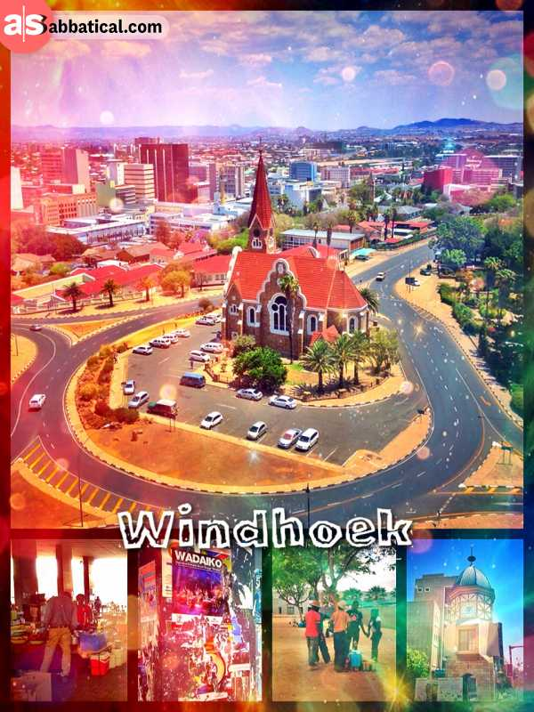 Windhoek - slightly urban grove in a weirdly blend of relaxed African and German lifestyle