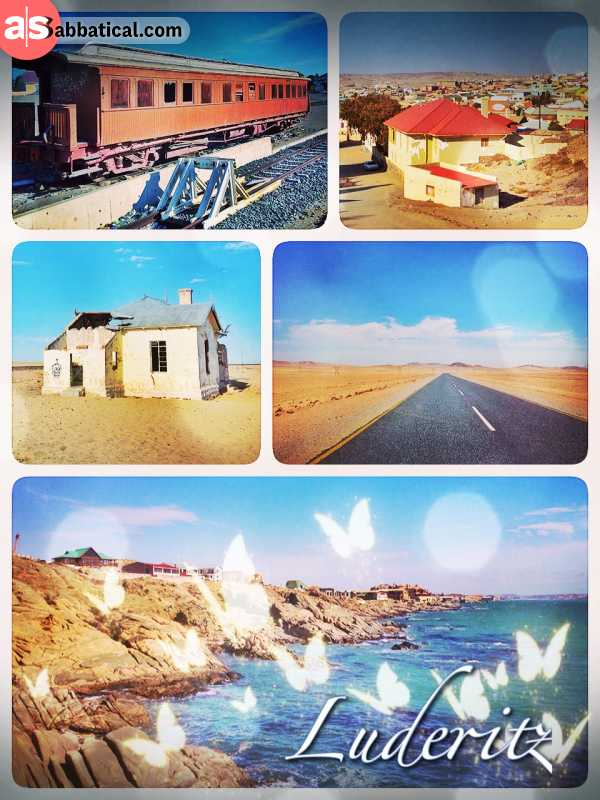 Luderitz - finally reaching the other side of Africa - at the windy, rather inhospitable Atlantic coast
