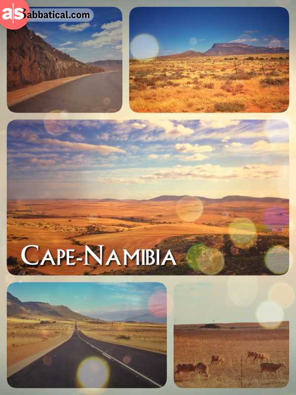 Cape Namibia Route - driving down the last few hundred kilometres on my way from Nairobi to Cape Town