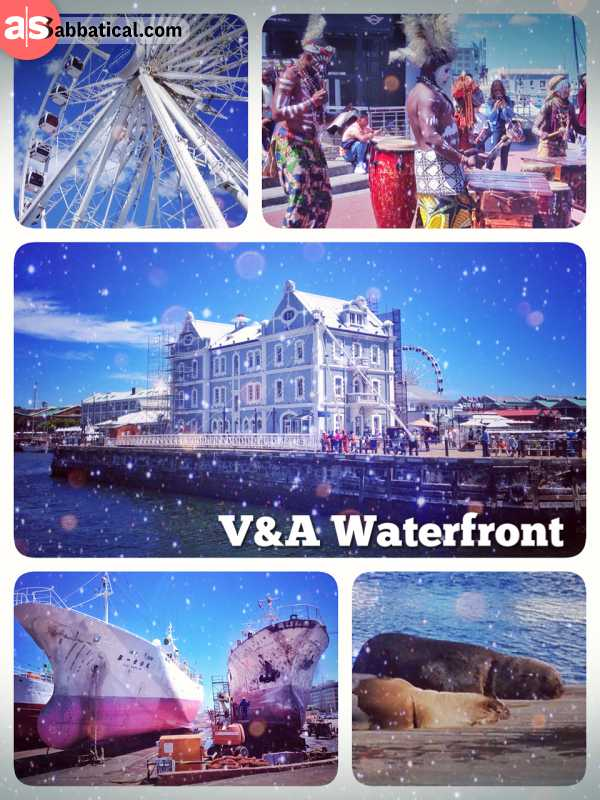 V & A Waterfront - strolling along the harbour and navigating through endless arcades of tourists