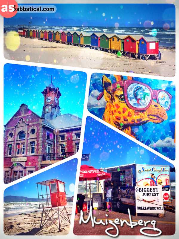 Muizenberg - being too lazy to learn kite surfing myself, but still observing others riding the wind