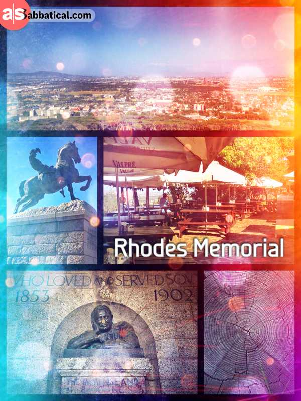 Rhodes Memorial - honouring the adventurous Cecil Rhodes with a quick coffee at his memorial