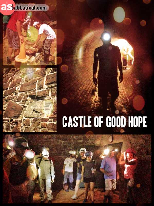 Castle of Good Hope - wading through flooded underground tunnels underneath the city of Cape Town