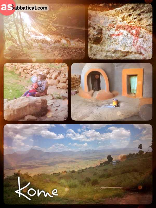 Kome Rock Paintings - learning about the culture and history of the heavenly kingdom Lesotho