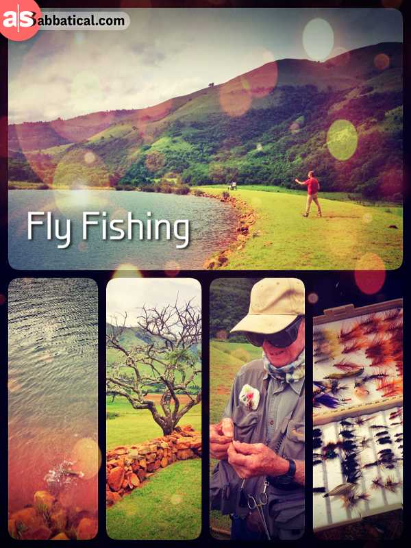Fly Fishing - spontaneously packing some flies and trying to catch a trout in the lake