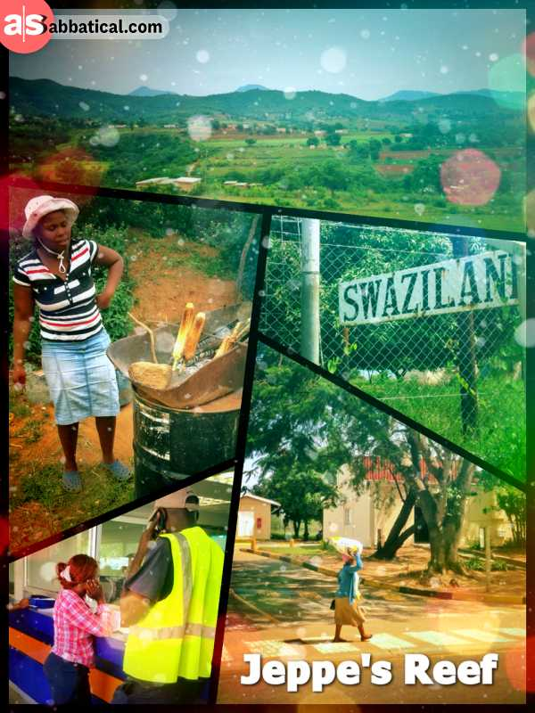 Jeppe's Reef (South Africa > Swaziland) - entering Swaziland, the very last absolute kingdom of the African continent