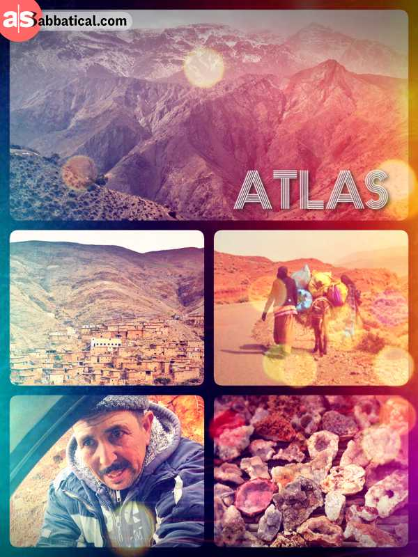 Atlas Mountains - crossing the large mountain range in the Northwest of the African continent