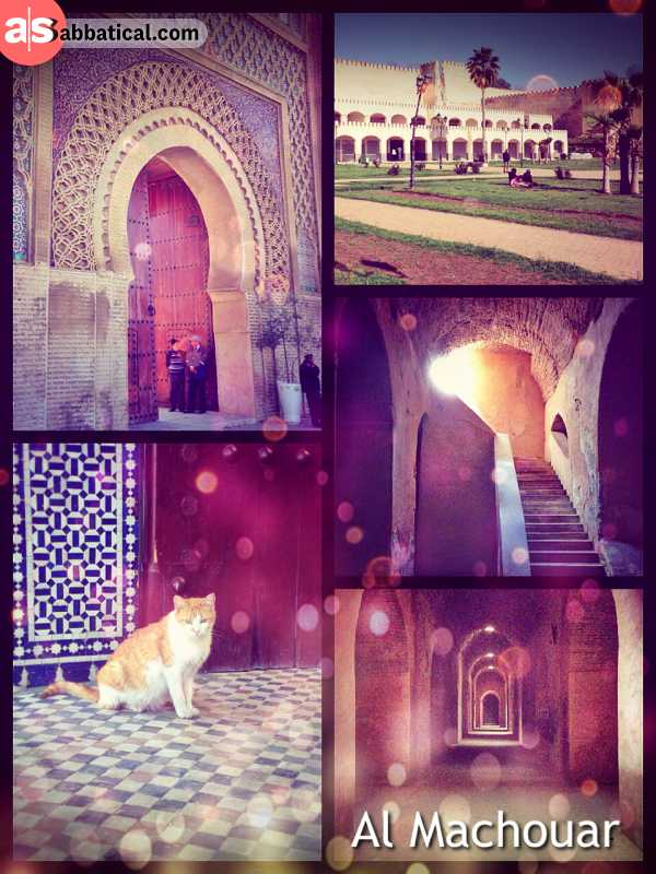 Al Machuar - old town and district of Meknes with an imperial palace, prison and mausoleum