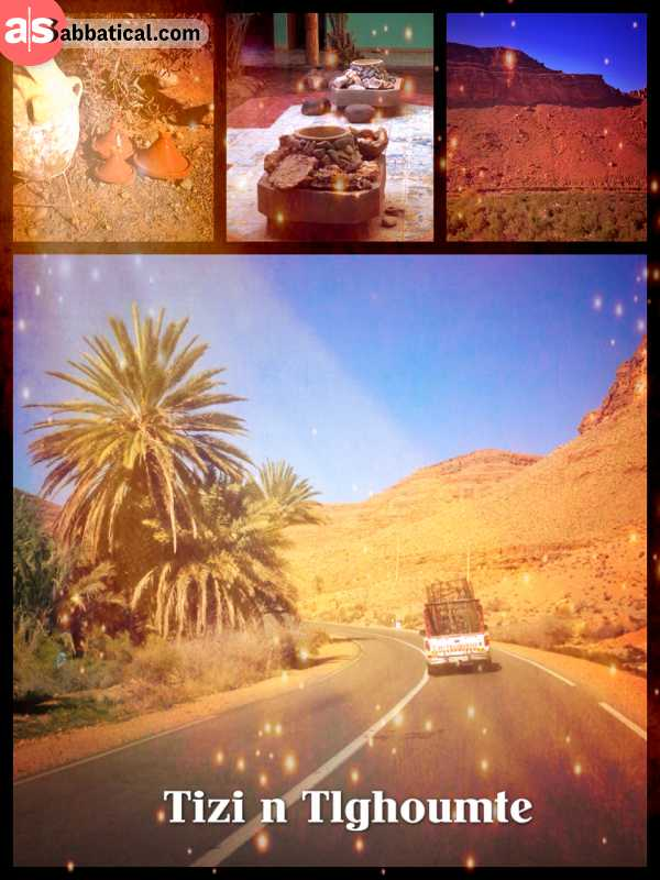 Tizi N Tlghoumte - crossing the Atlas mountains again, northbound towards the Mediterranean