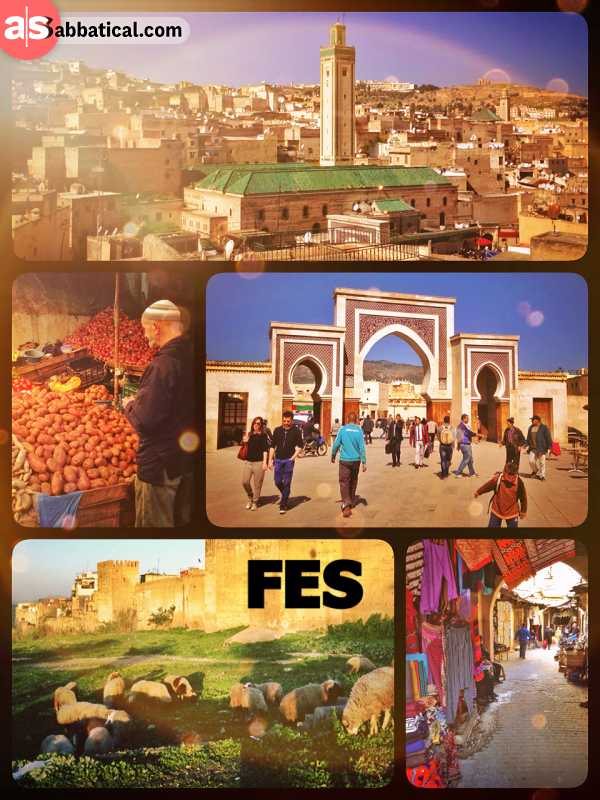 Fes - one of four Morocco's imperial cities with the world's oldest functioning University