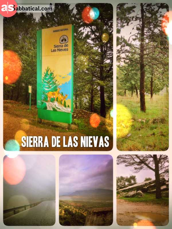 Sierra de las Nieves Natural Park - snow capped mountain range and national park in Andalusia, the south of Spain