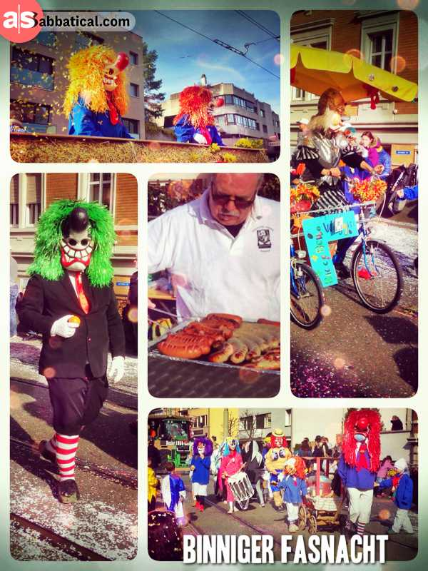Binniger Fasnacht - attending the small but still very nice carnival parade in my home town