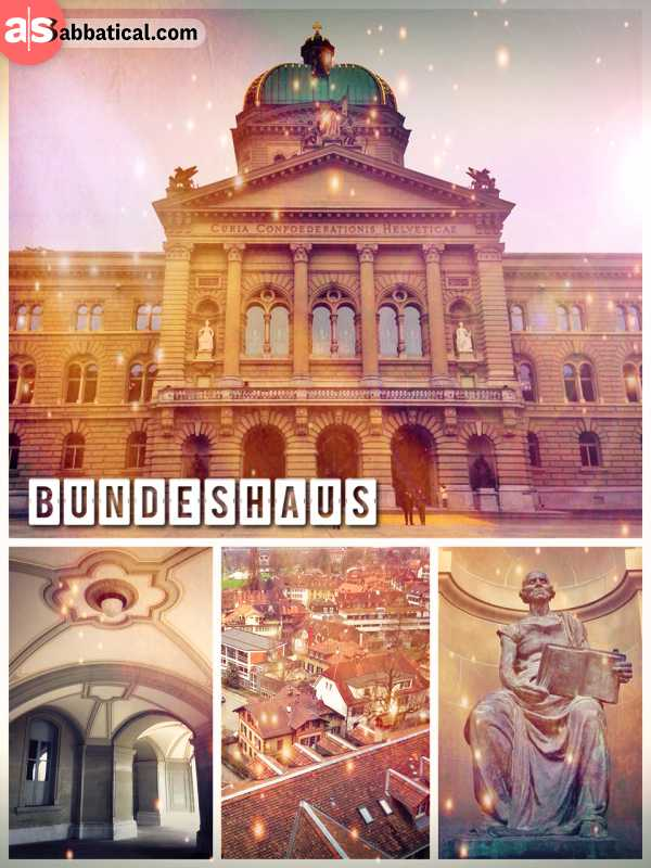 Bundeshaus - the official house of parliament of the state of Switzerland in Bern