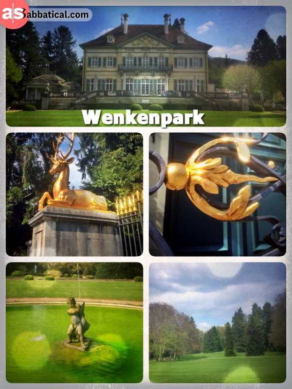 Wenkenpark Riehen - having a relaxing walk through the green park landscape just outside of Basel