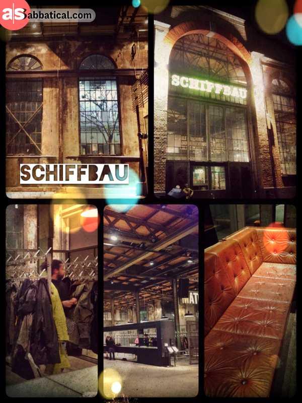 Schiffbau Zürich - getting some work done on a cozy couch before going clubbing in Zurich